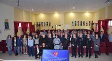 Scuola Forestale Carabinieri il generale Adinolfi in visita
