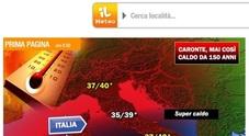 Meteo, Italia infuocata da Caronte: temperature record