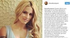"""""""Femminilità è..."""", la grande lezione di vita della Hunziker su Instagram /Guarda"""