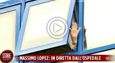«Il peggio è passato», Lopez dopo l'infarto saluta dall'ospedale con la banana