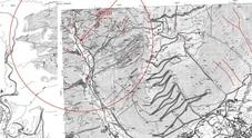 Il punto in cui si trova l'ordigno e l'area di 800 metri di raggio da sgombrare