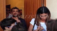 Belen con don Roberto Cavazzana (dietro a lei con la barba) suo padre spirituale