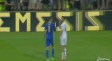 Giallorossi contro, la lite tra Manolas e Dzeko al termine di Grecia-Bosnia