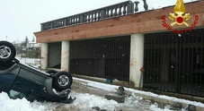 Incidente di Lioni: la neve non ha fermato la corsa del suv