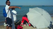 I soccorsi in spiaggia risultati purtroppo vani