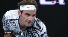 Australian Open, l'ultimo punto di Federer: Nadal ko in 5 set