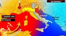 Meteo, sull'Italia torna Hannibal: ondata di caldo e possibili temporali -PREVISIONI