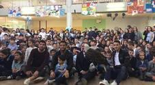 """Lazio, Felipe Anderson, Crecco e Luis Alberto in visita all'Istituto """"Via del Calice"""" di Roma"""