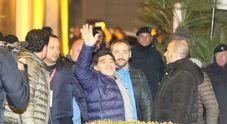 Maradona arrivato a Napoli (Newfotosud Esposito-Garofalo)