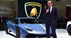 Lamborghini con tre Huracàn sotto i riflettori del salone di Pechino