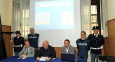 """La conferenza stampa di presentazione dell'operazione """"Storione"""" contro il traffico di droga"""
