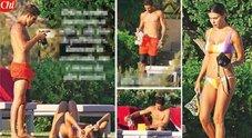 Belen e Iannone in vacanza a Ibiza: champagne, selfie e anche tante effusioni