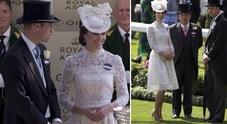 Kate Middleton, trasparenze hot col pizzo bianco al Royal Ascot