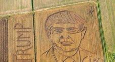 Il campo con il disegno di Trump