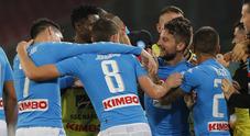 Napoli, tutto facile contro l'Empoli 2-0 con Mertens e Chiriches