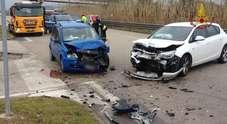 Le due auto incidentate (Centro documentazione vigili del fuoco)