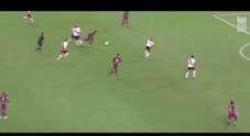 immagine Neimar, il dribbling dell'attaccante del Barça ubriaca quattro difensori del River Plate