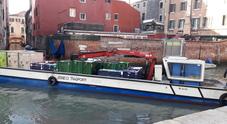 La barca in manovra