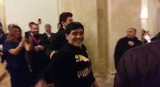 Maradona arriva al San Carlo
