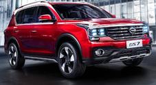 Gac Motors, svelato l'inedito Suv Trumpchi GS7 al Salone di Detroit