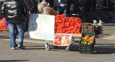 Il mercato improvvisato di piazzale Flaminio