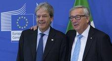 Migranti, incontro Gentiloni-Juncker: «L'Italia può contare sulla Ue»