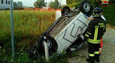 L'incidente a San Giorgio delle Pertiche (Foto Vigili del Fuoco)