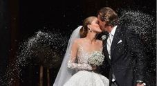 Matrimonio extralusso per Victoria Swarovski: sull'abito 500mila cristalli