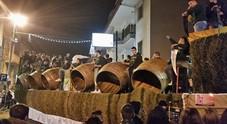 Festa di Sant'Antonio a Macerata: nella «battaglia» ferito capocarro