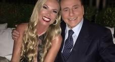 Federica Panicucci con Silvio Berlusconi