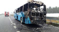 Immagine Incendio distrugge autobus di studenti in Basilicata