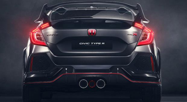ll posteriore aggressivo della nuova Honda Civic Type R