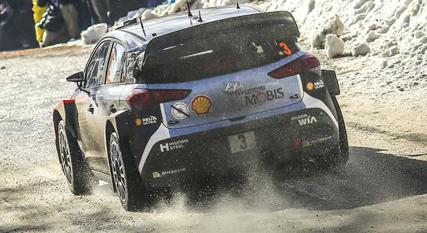 Una Hyundai al rally di Montecarlo dello scorso anno