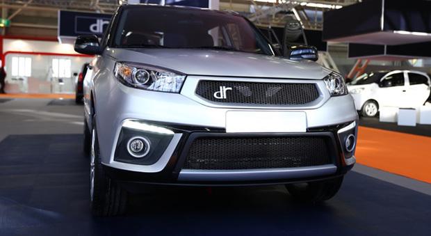 Il frontale del nuovo DR 5 esposto al recente Motor Show di Bologna