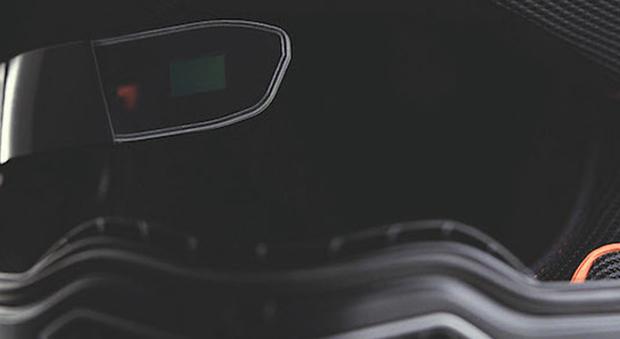 Il display della realtà aumentata all'interno del casco Nolan