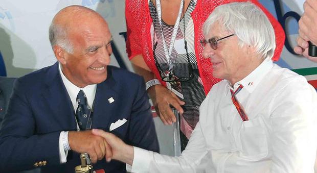 Angelo Sicchi Damiani e Bernie Ecclestone