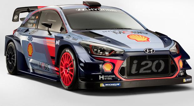 La Hyundai i20 WRC per il mondiale rally 2017