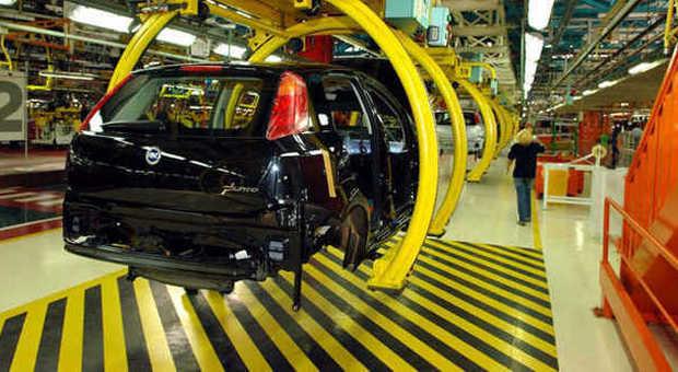 Una fabbrica di autovetture