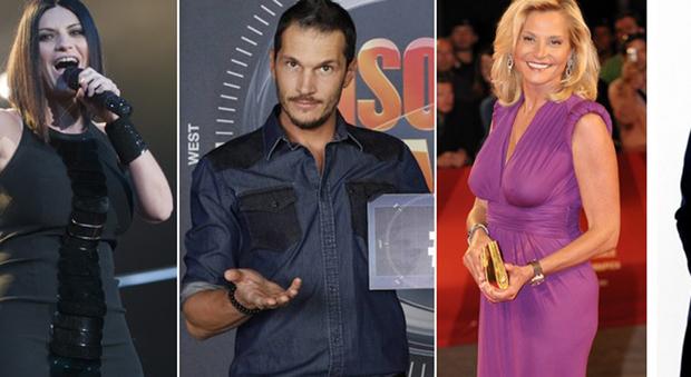 Laura Pausini, Alvin, Simona Ventura e Gianna Nannini