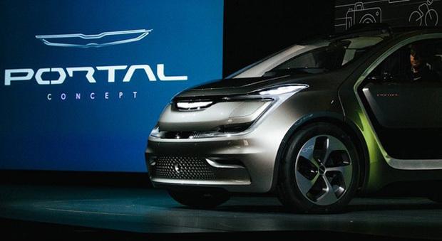 La presentazione al Ces 2017 della Chrysler Portal