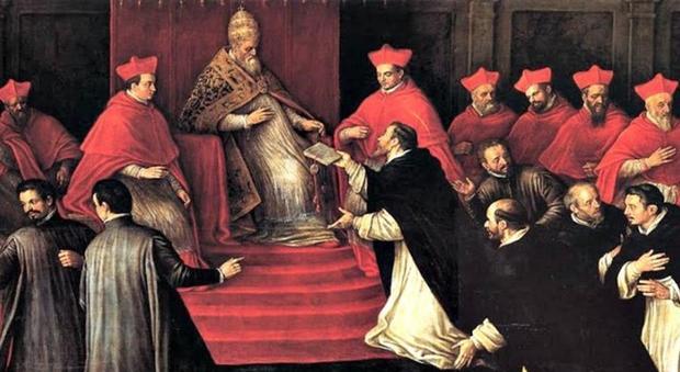 Papa Francesco al Laterano per gli 800 anni della nascita dei frati domenicani
