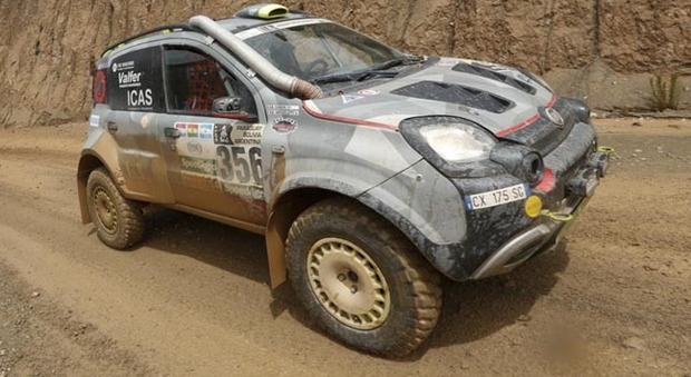 La Fiar Panda 4x4 Cross di Giulio Verzeletti e Antonio Cabini che ha portato a termine la Dakar 2017