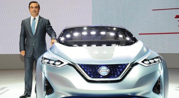 Il presidente dell'Alleanza Renault-Nissan ha ribadito anche al Salone di Ginevra i due pilastri su cui si basa la sua visione della mobilità sostenibile. Una filosofia che trova espressione nella concept car Ids del marchio giapponese