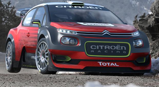 La nuova arma Citroen per il prossimo mondiale rally: la C3 WRC