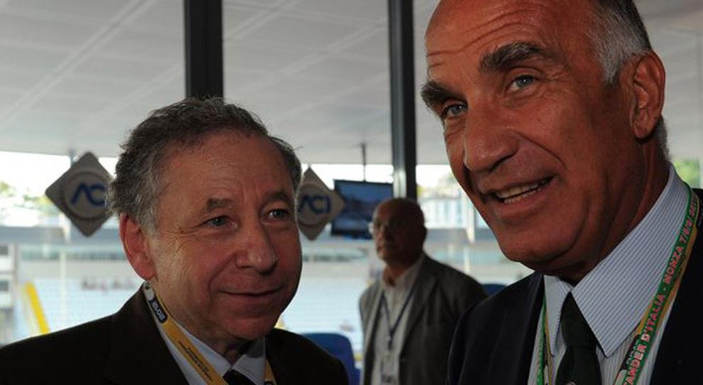A sinistra Jean Todt delegato dell'Onu per la sicurezza stradale e Angelo Sticchi Damiani presidente Aci