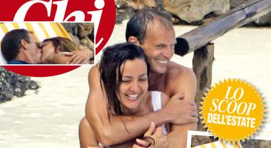 Allegri, vacanza d'amore con Ambra Angiolini | Foto