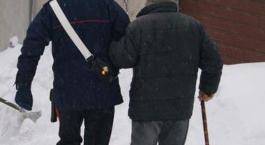 Anziano rischia l'assideramento salvato in extremis dai carabinieri