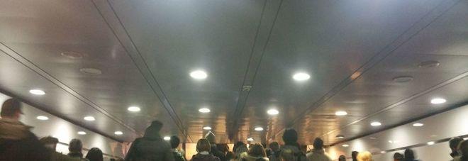 Il caos alla stazione Termini questa mattina