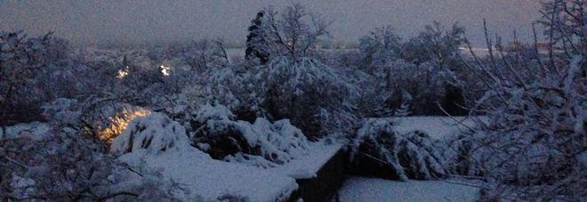 L'alba a Urbisaglia, nel Maceratese