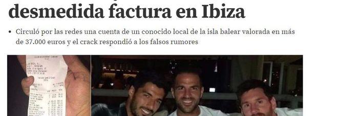 Messi, abbuffata di aragoste e Dom Perignon con Suarez e Fabregas a Ibiza. Conto: 37mila euro e lui se la ride